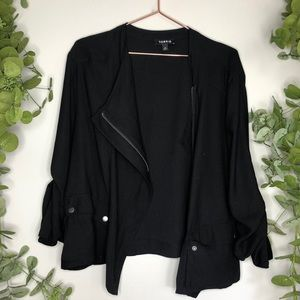 Torrid Black asymmetrical Zip Black Jacket 2 2X